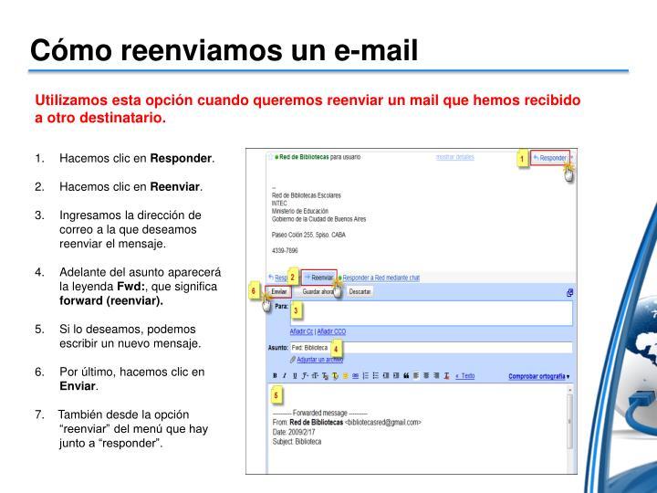 Cómo reenviamos un e-mail