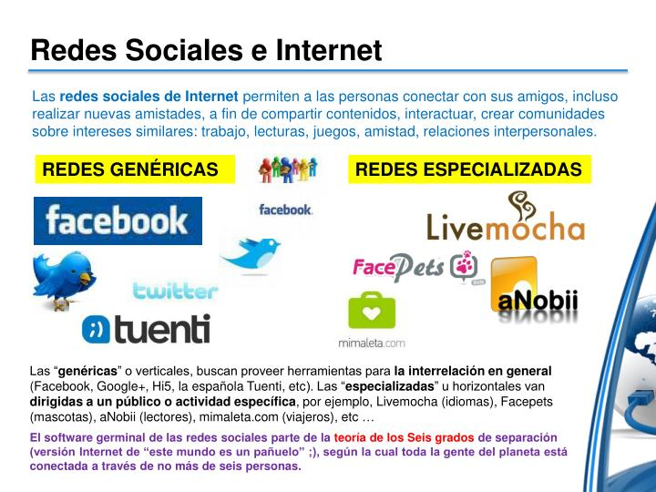 Redes Sociales e Internet