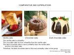 comparative and superlatives
