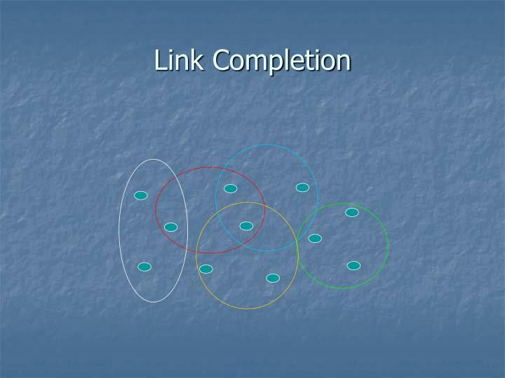 Link Completion