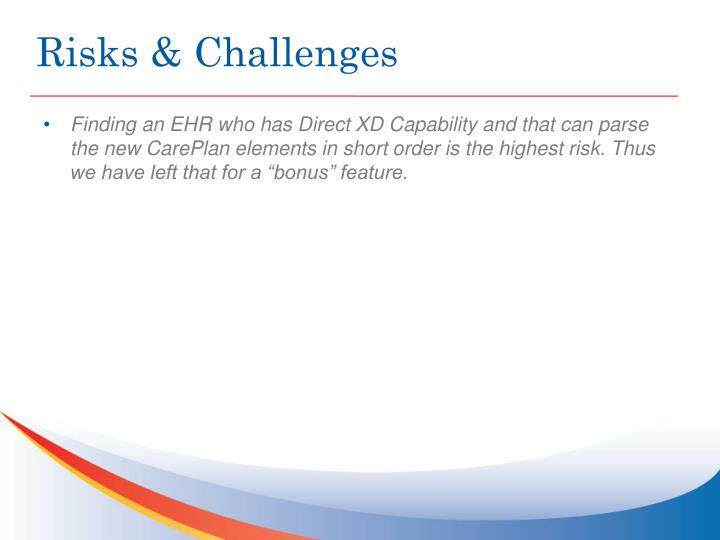 Risks & Challenges