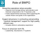 role of bwpo