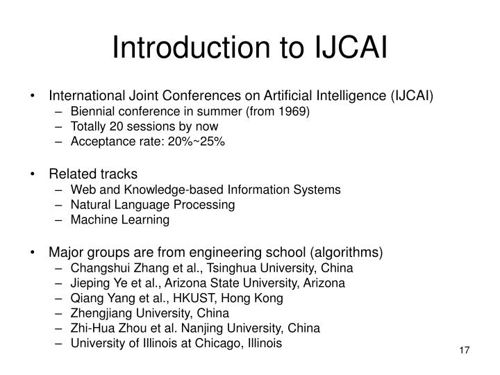 Introduction to IJCAI