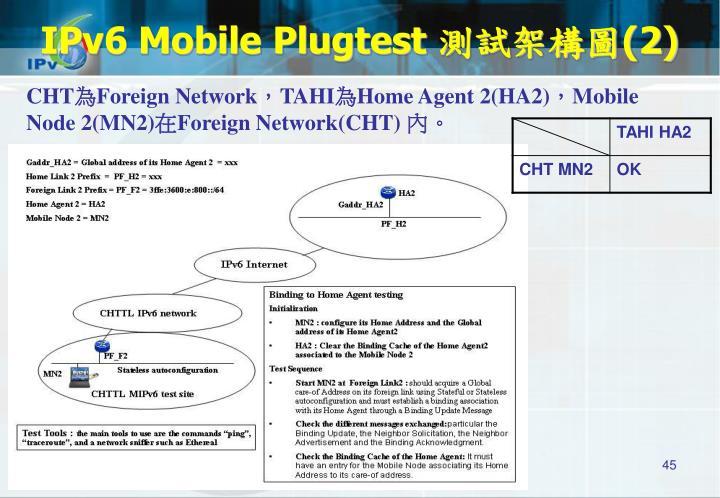 IPv6 Mobile Plugtest