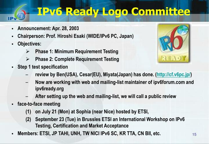 IPv6 Ready Logo Committee