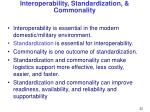 interoperability standardization commonality