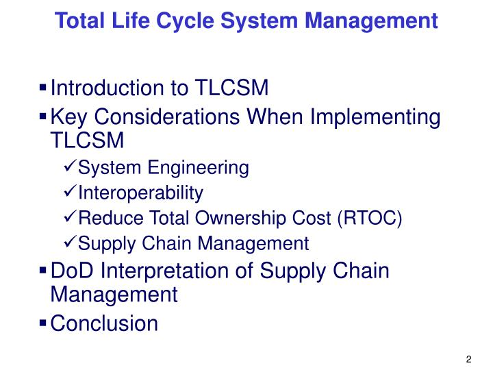 Introduction to TLCSM