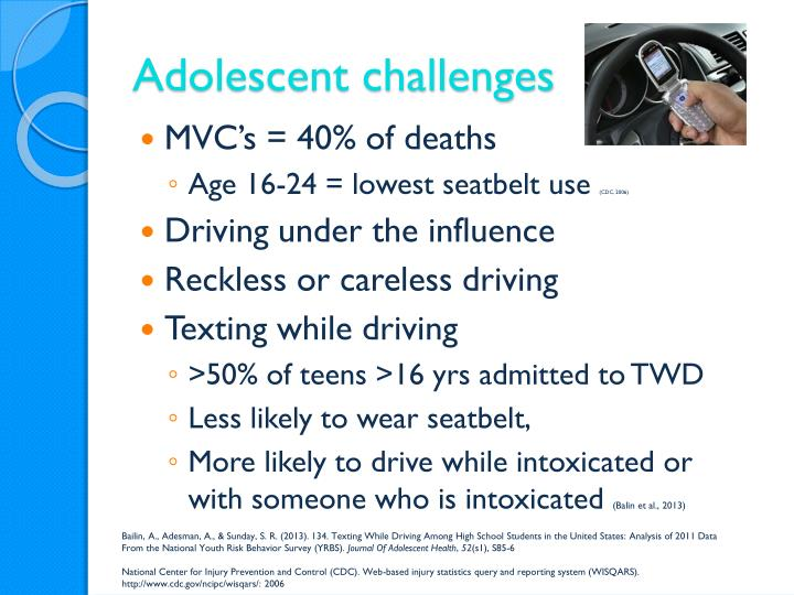 Adolescent challenges