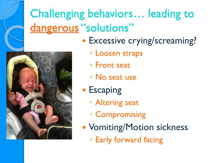 Challenging behaviors… leading to