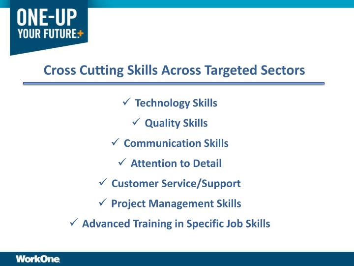 Cross Cutting Skills Across Targeted Sectors