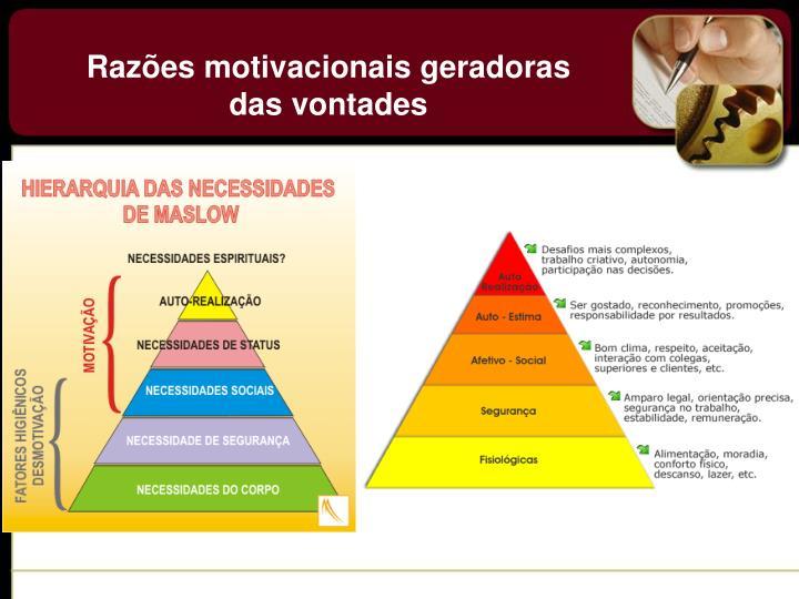 Razões motivacionais geradoras