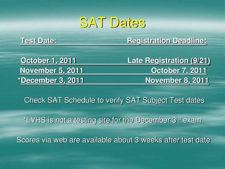 SAT Dates