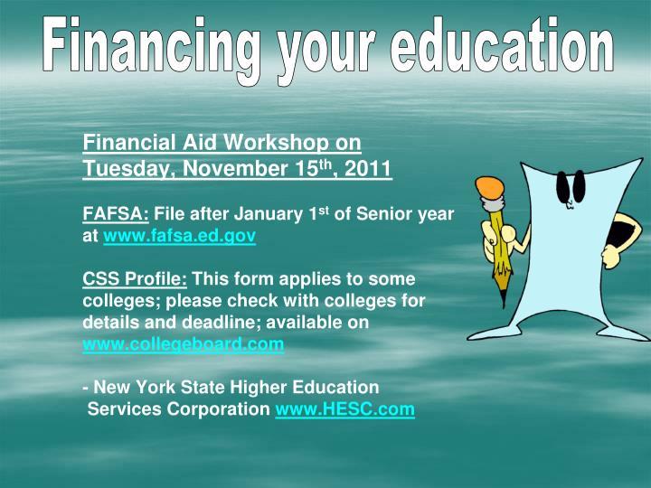 Financial Aid Workshop on