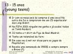 13 15 anos young teens