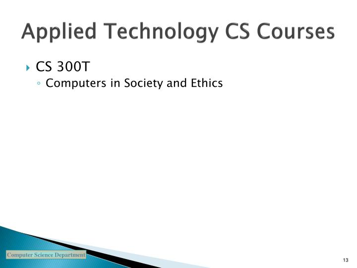 Applied Technology CS Courses