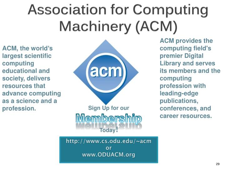 Association for Computing Machinery (ACM)