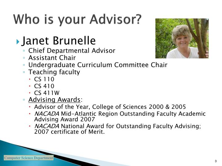 Who is your advisor