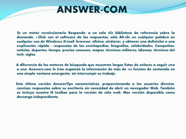 ANSWER-COM