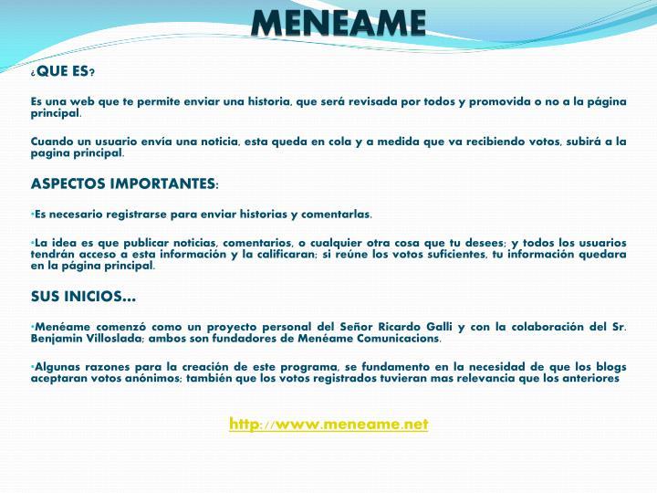 MENEAME