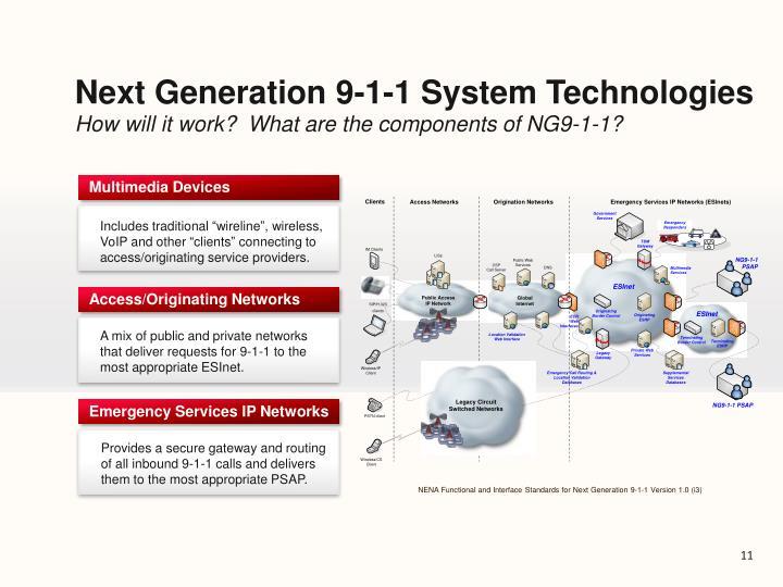 Next Generation 9-1-1 System Technologies