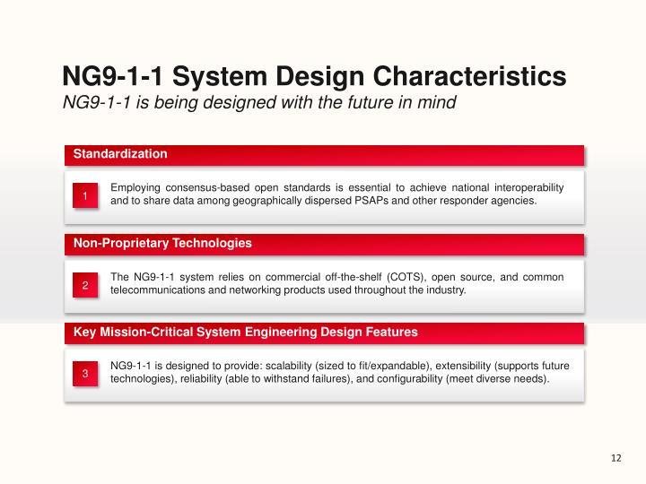 NG9-1-1 System Design Characteristics