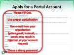 apply for a portal account2