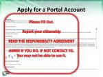 apply for a portal account4