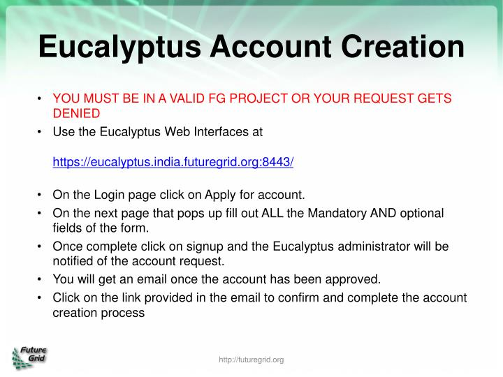 Eucalyptus Account