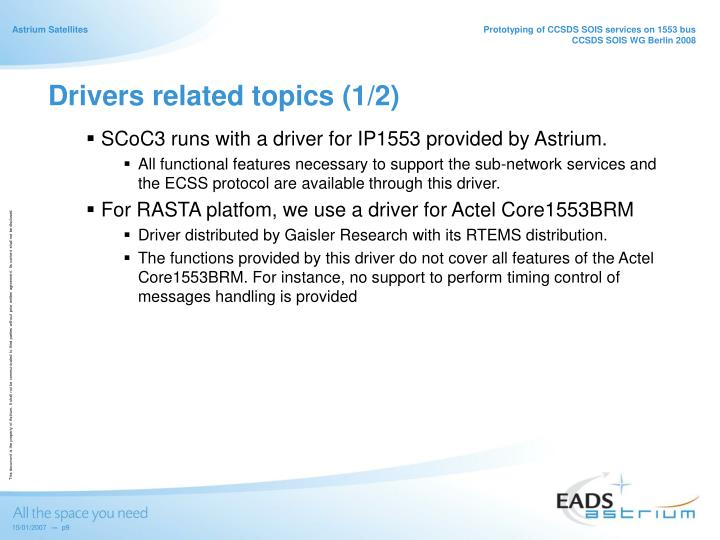 Drivers related topics (1/2)