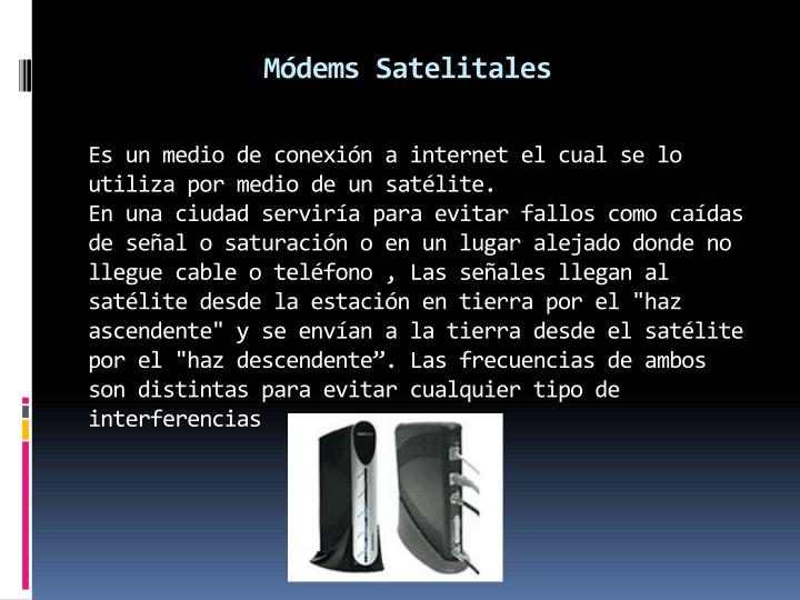 Módems Satelitales
