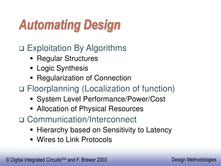 Automating Design