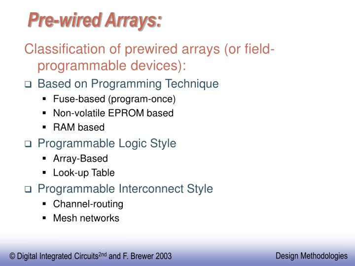 Pre-wired Arrays: