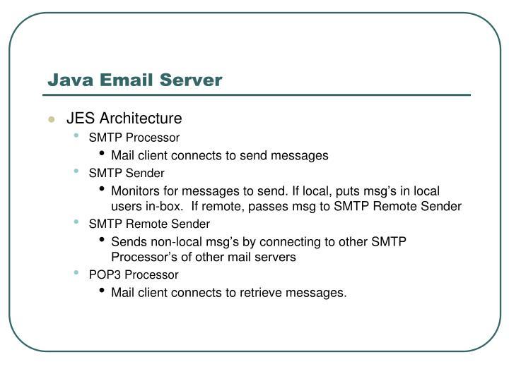 Java Email Server