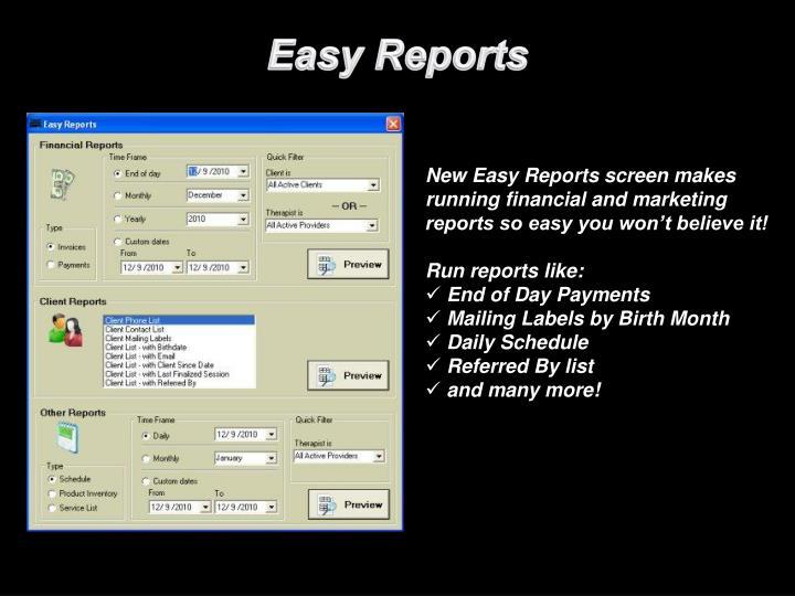 Easy Reports