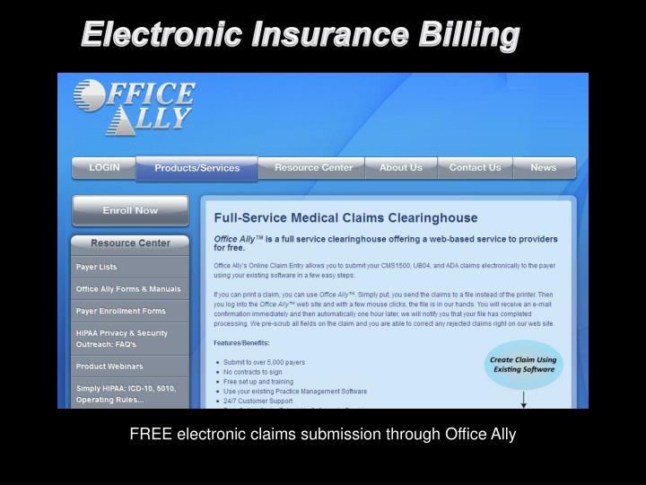 Electronic Insurance Billing