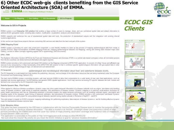 6) Other ECDC web-