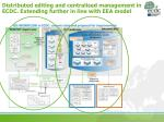 distributed editing and centralised management in ecdc extending further in line with eea model