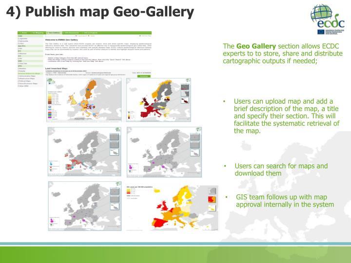 4) Publish map Geo-Gallery