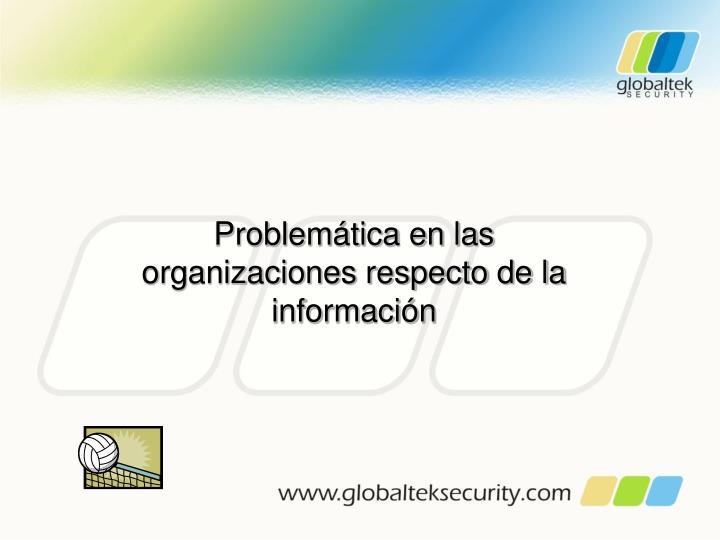Problemática en las organizaciones respecto de la información