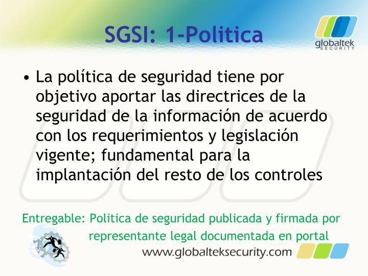 SGSI: 1-Politica