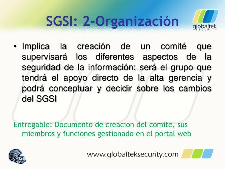 SGSI: 2-Organización