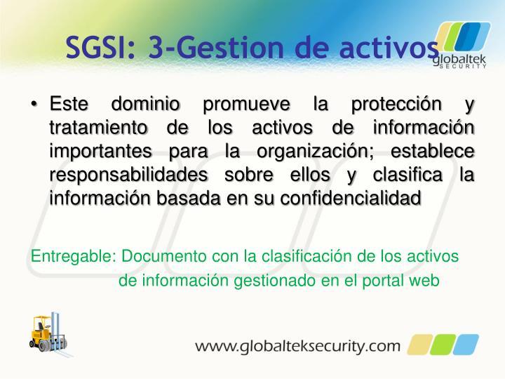 SGSI: 3-Gestion de activos