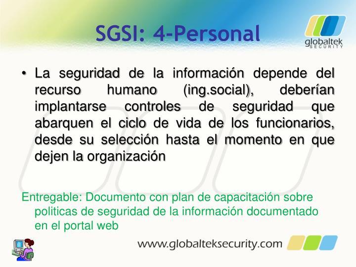 SGSI: 4-Personal