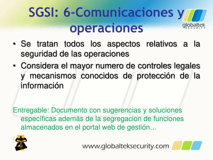SGSI: 6-Comunicaciones y operaciones