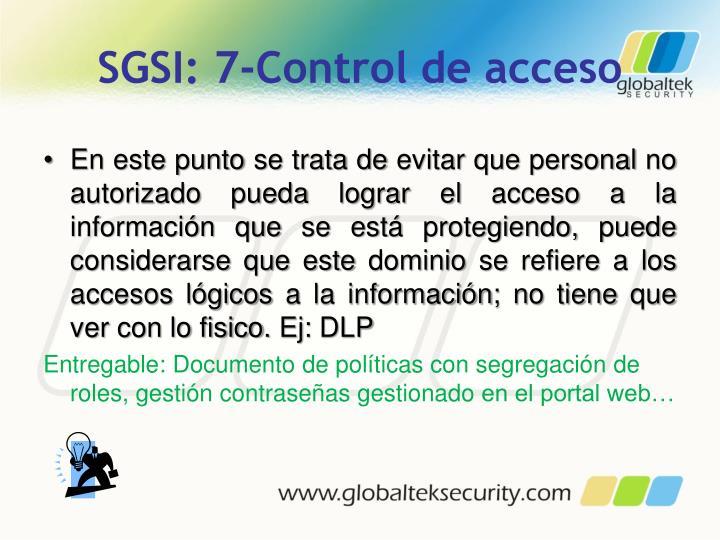 SGSI: 7-Control de acceso