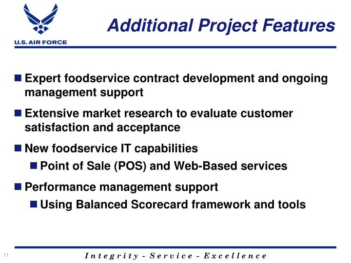 Additional Project Features