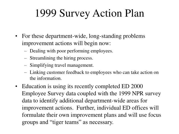 1999 Survey Action Plan