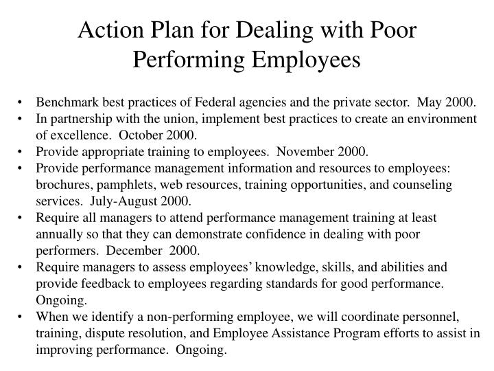 Action Plan for Dealing with Poor Performing Employees