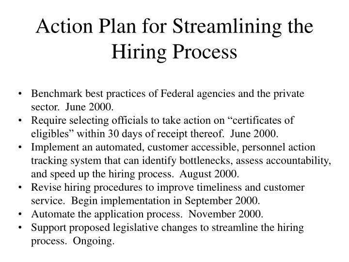 Action Plan for Streamlining the Hiring Process