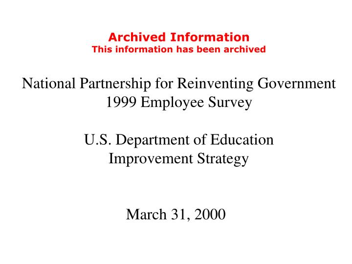 Archived Information
